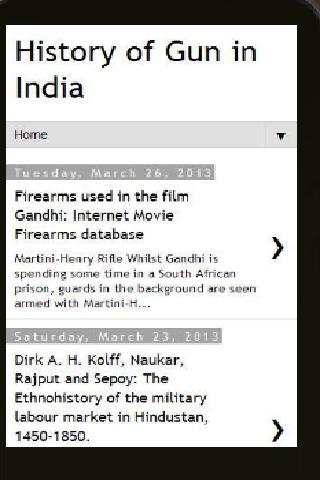 Gun History India