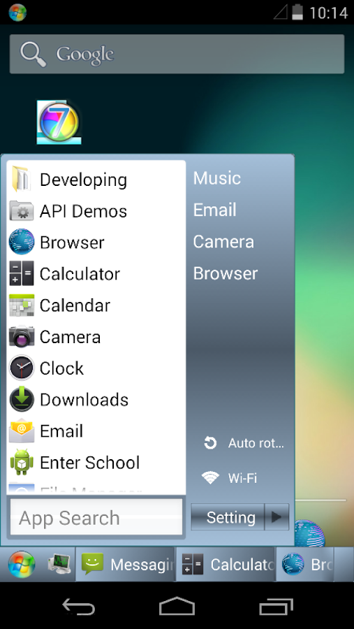 Taskbar 7- screenshot