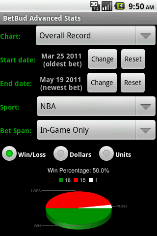 BetBud - sports bet tracker - screenshot