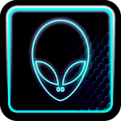 BLUE ALIEN ADW Theme