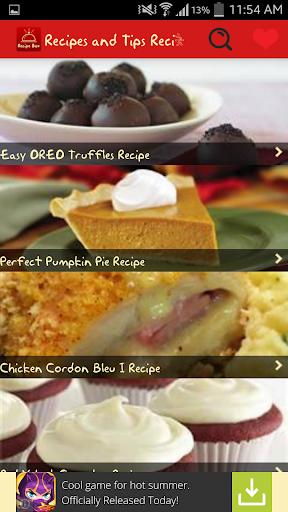 Recipes Tips