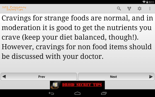 101 Pregnancy Safety Tips Free Screenshot