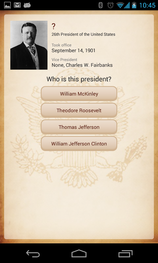 U.S. Presidents- screenshot