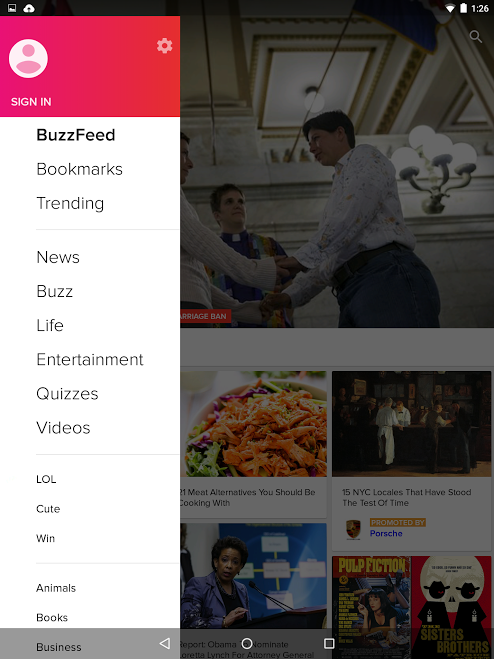 BuzzFeed - screenshot