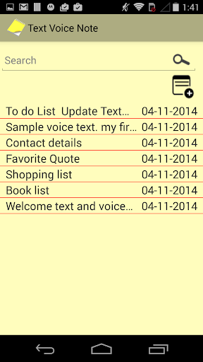 Text Voice Notepad