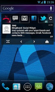BlingBoard: Social Widget Screenshot 4