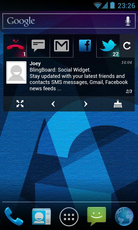 BlingBoard: Social Widget- screenshot