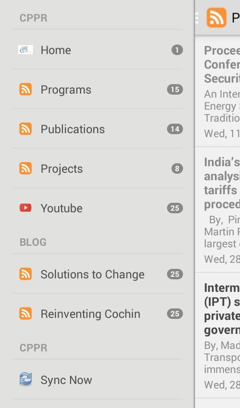 CPPR India- screenshot