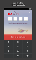Screenshot of Westpac Mobile Banking