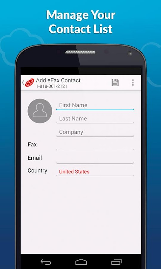 eFax® Mobile Fax App- screenshot