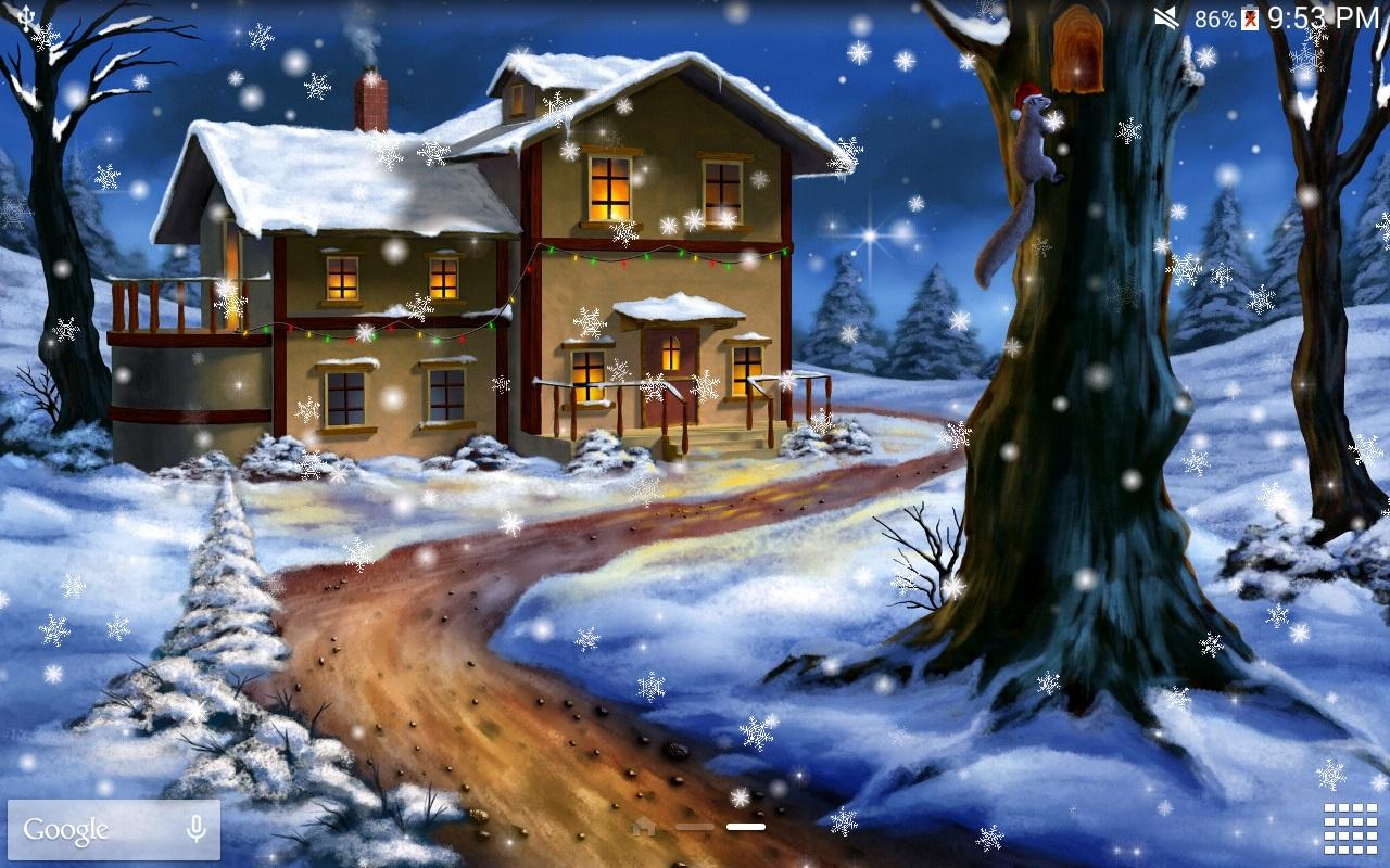 snow night pro live wallpaper android apps on google play