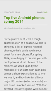 FeedMe (RSS Reader) - screenshot thumbnail