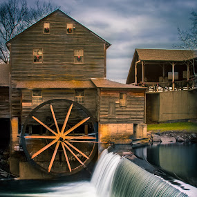 The Old Mill by Jeannie Meyer - Buildings & Architecture Other Exteriors ( pigeon forge, tennessee, gatlinburg, watermill, the old mill,  )