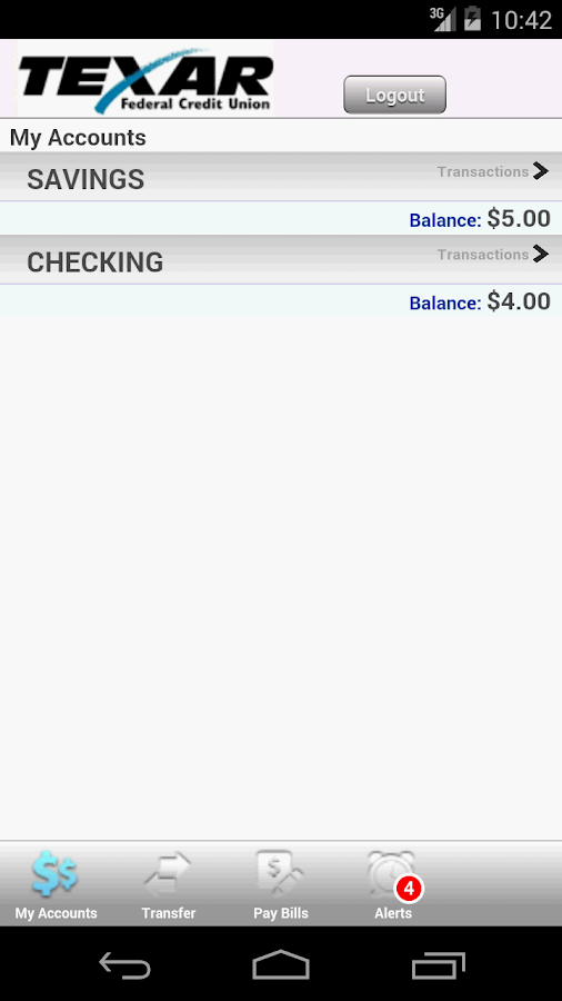 TEXAR FCU Mobile Banking - screenshot