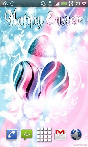 Happy Easter Glitter Eggs LWP