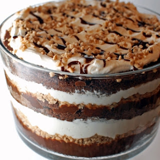 Mouth-Dropping Chocolate Toffee Trifle.
