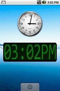 Green Scan Lines Clock Widget- screenshot thumbnail