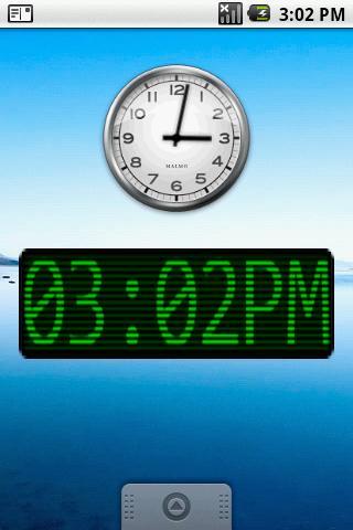Green Scan Lines Clock Widget- screenshot
