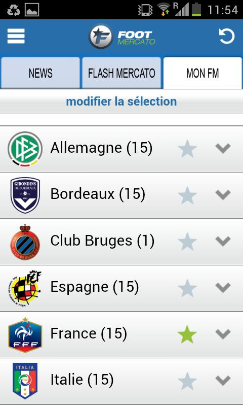 Foot Mercato - screenshot