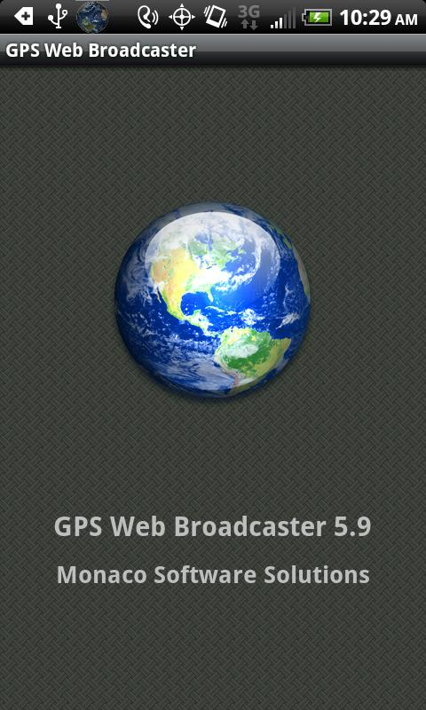 GPS Web Broadcaster - screenshot