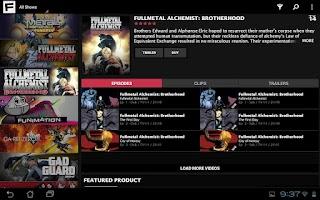 Screenshot of FUNimation