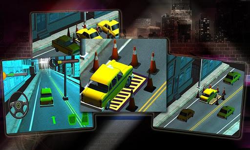 真正的汽車停車場出租車3D