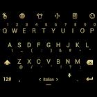 Keyboard Theme Flat Black Gold icon