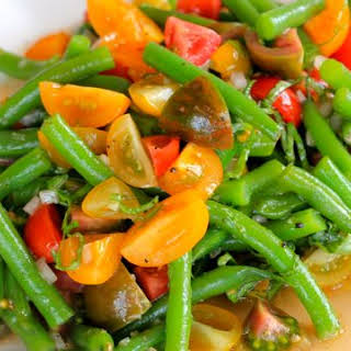 Green Bean & Tomato Salad.