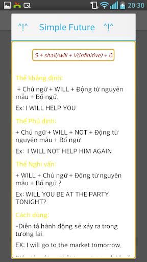 【免費教育App】hoc tieng anh co ban cac thi-APP點子