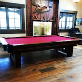 Log Pool Table Rustic Billiard