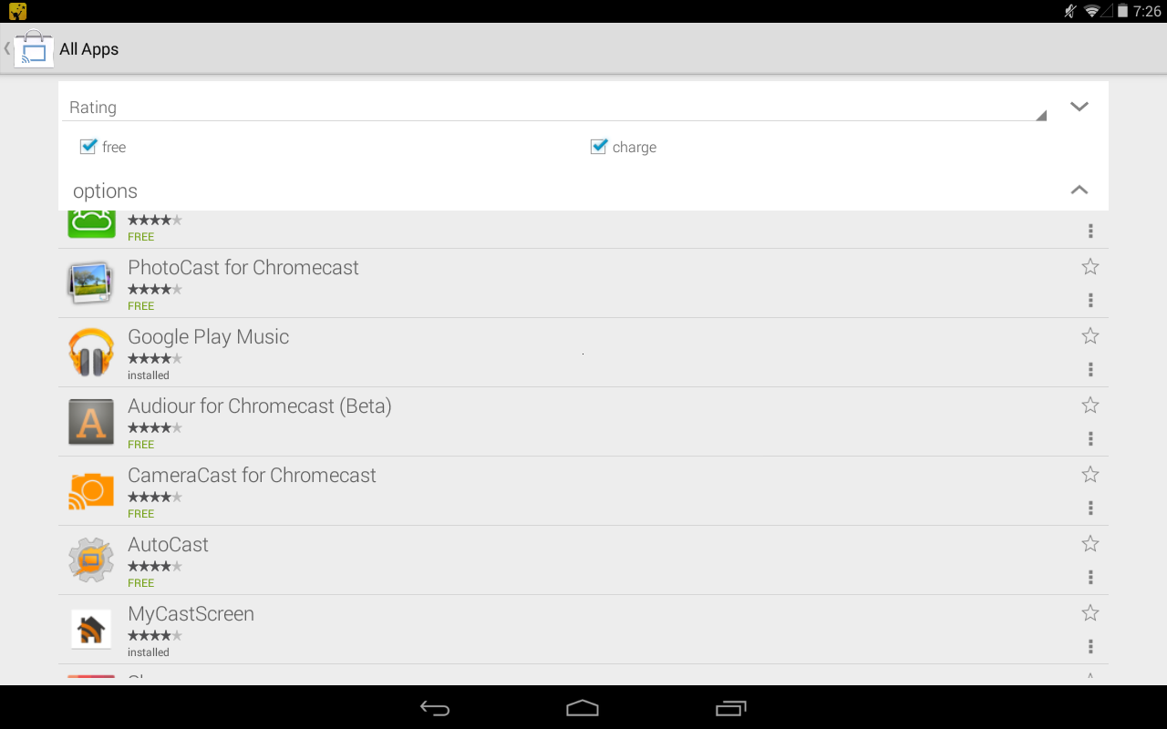 Cast Store for Chromecast - screenshot