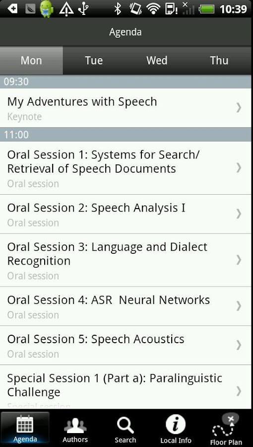 Interspeech- screenshot