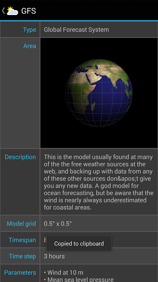 Weather4D- screenshot
