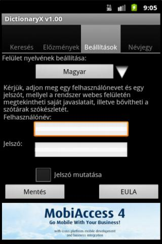 DictionaryX - screenshot