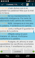 Screenshot of Spanish Bible RVR