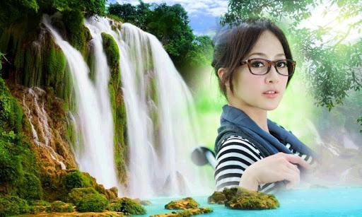自然瀑布相框