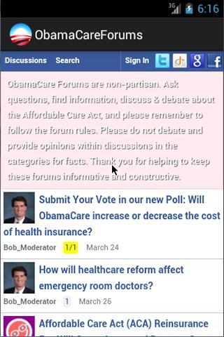 Obamacare Forums