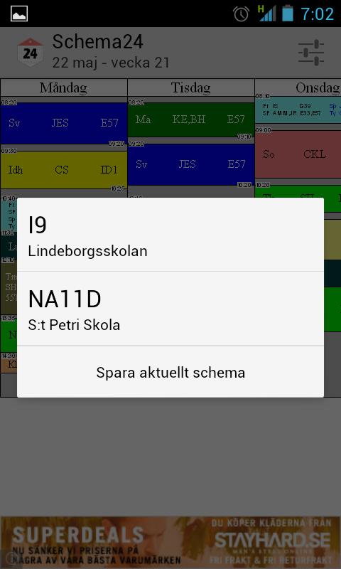 Schema24 - Skolschema för alla - screenshot
