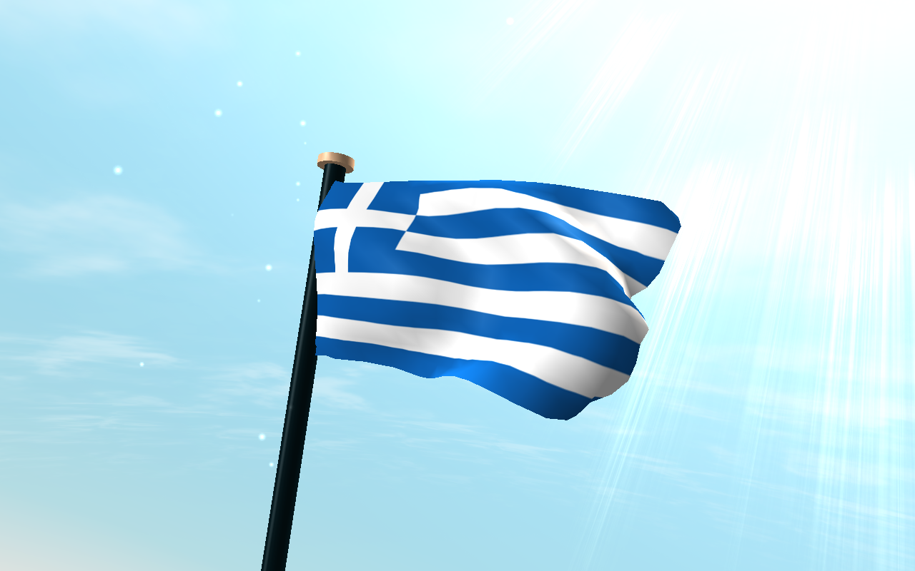 Greece flag 3d free wallpaper android apps on google play - Greek flag wallpaper ...
