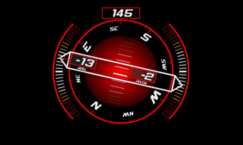Inclinometer (+Compass) - screenshot
