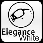 White Elegance Theme GO SMS icon