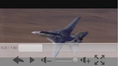 FLV Player para Android executando um vídeo