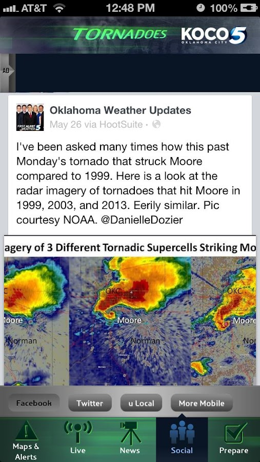 Tornadoes KOCO 5 - screenshot