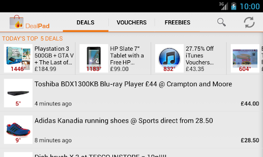 DealPad - UK Deals & Freebies- screenshot thumbnail