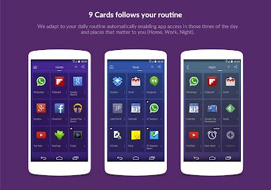 9 Cards Home Launcher Screenshot 5