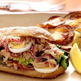 Tuna Nicoise Sandwiches.