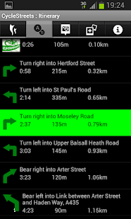 CycleStreets journey planner - screenshot thumbnail