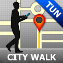 Tunis Map and Walks