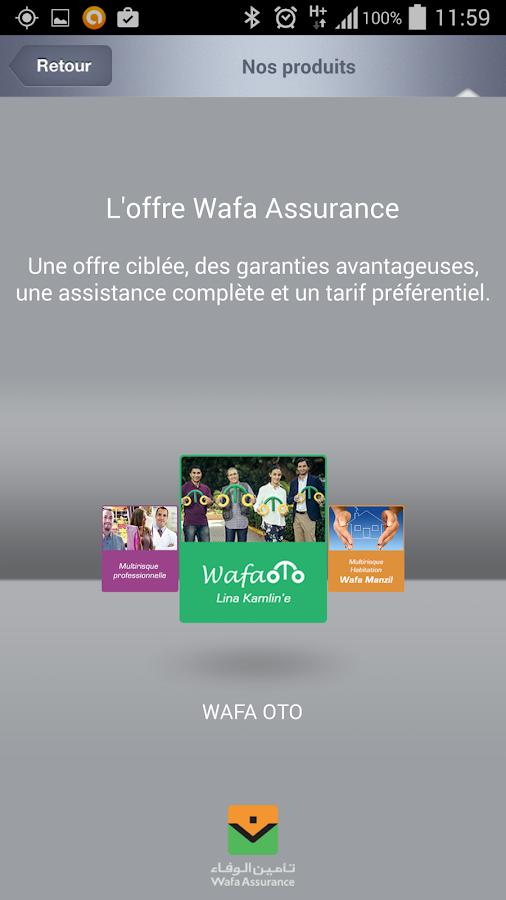 My Wafa Assurance Maroc - screenshot