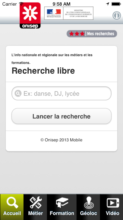 Onisep Mobile- screenshot